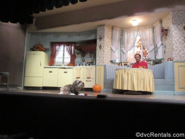 kitchen scene from the Carousel of Progress showcasing the GE appliances