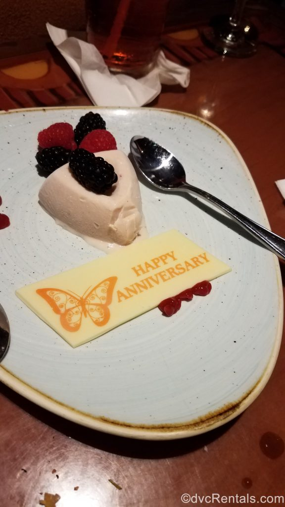 Anniversary Dessert from Sanaa at Disney's Animal Kingdom – Kidani Village