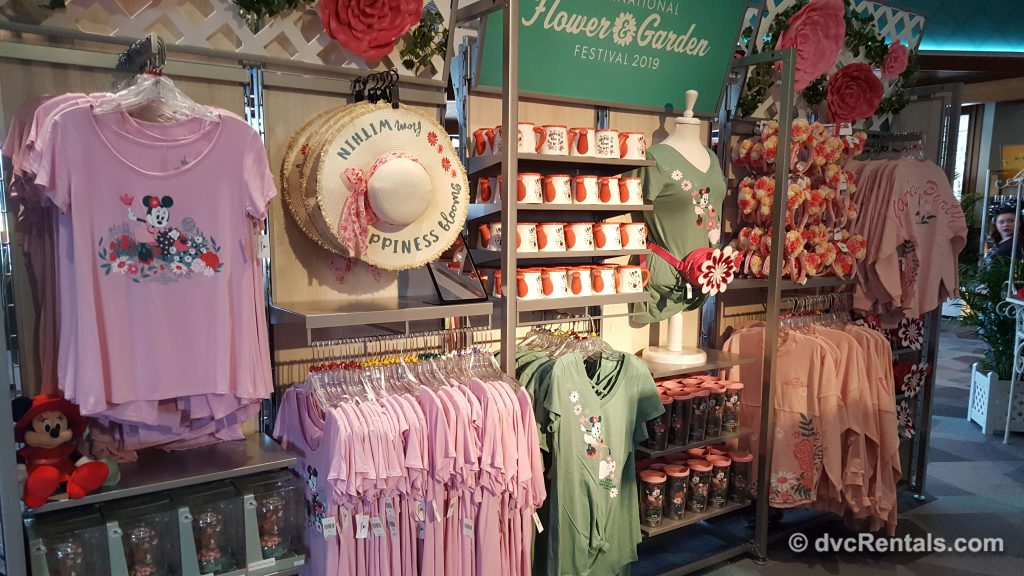 Merchandise from Epcot's International Flower and Garden Festival
