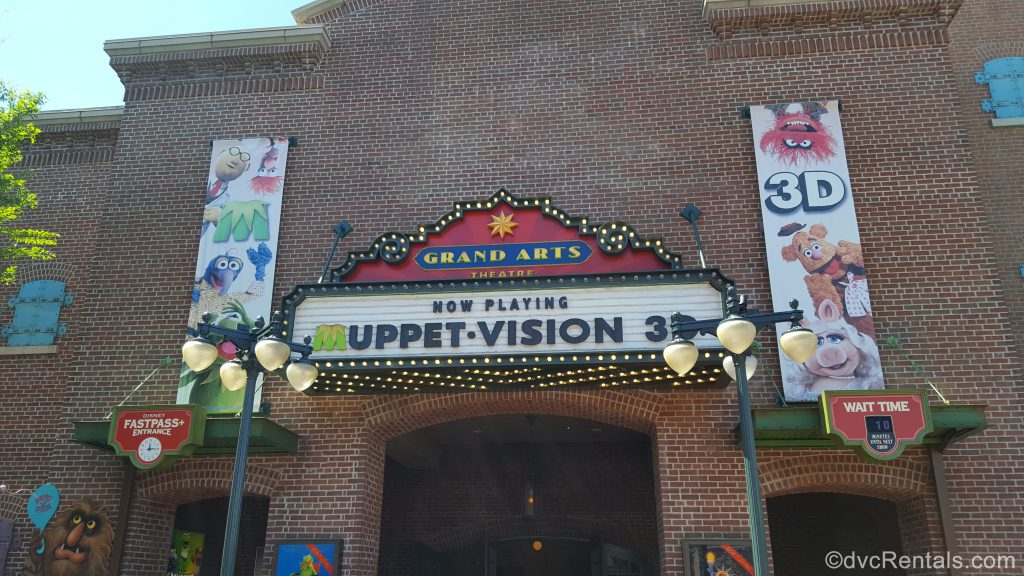 MuppetVision 3D sign at Disney's Hollywood Studios