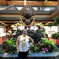Guest Blogger Emily in the lobby of Disney's Polynesian Villas & Bungalows