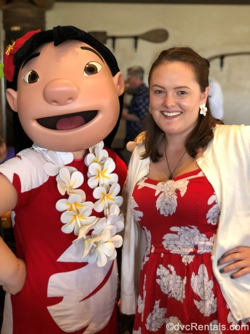 Guest Blogger's sister with Lilo at 'Ohana