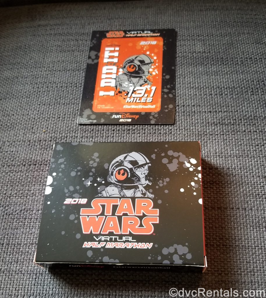 Star Wars Virtual Race magnet and shipping box