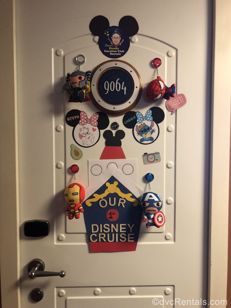 Door decorations on the Disney Dream