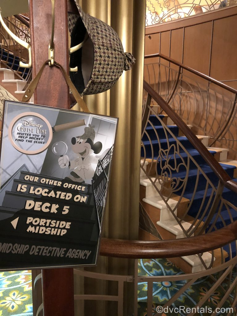 MidShip Detective Agency game on the Disney Dream