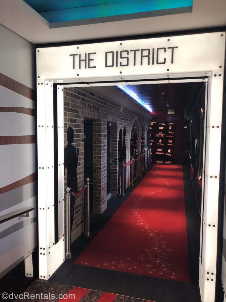 The District area on the Disney Dream