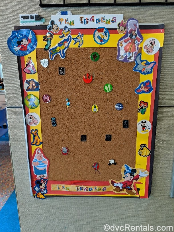 Bay Lake Tower pin board