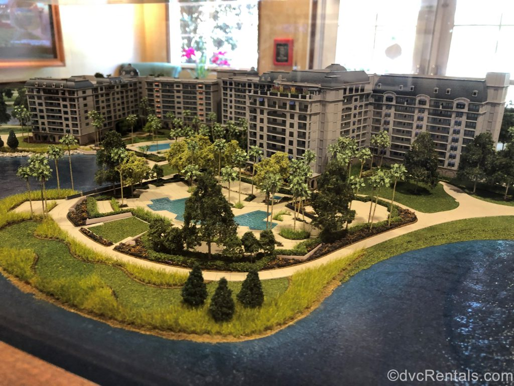 miniature model of Disney's Riviera Resort