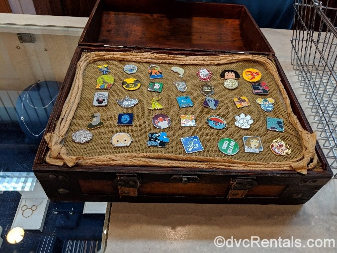 treasure chest shaped pin board from Conch Flats at Disney's Old Key West