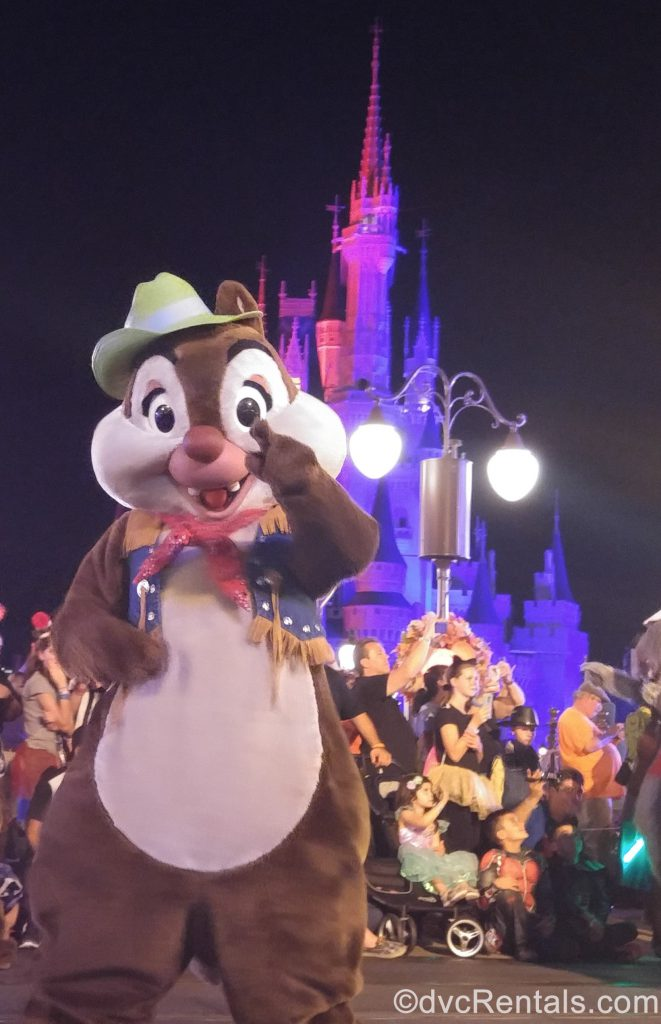 Chip dressed up for Halloween at the Mickey's Not So Scary Halloween Party