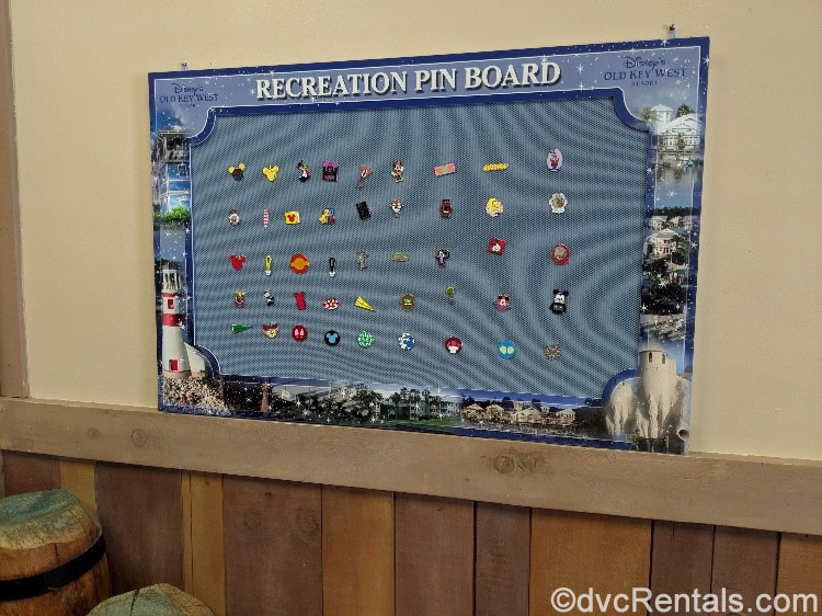 Community Hall pin board at Disney's Old Key West