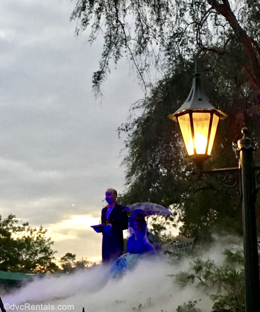 Haunted Mansion characters dressed up for the Mickey's Not So Scary Halloween Party