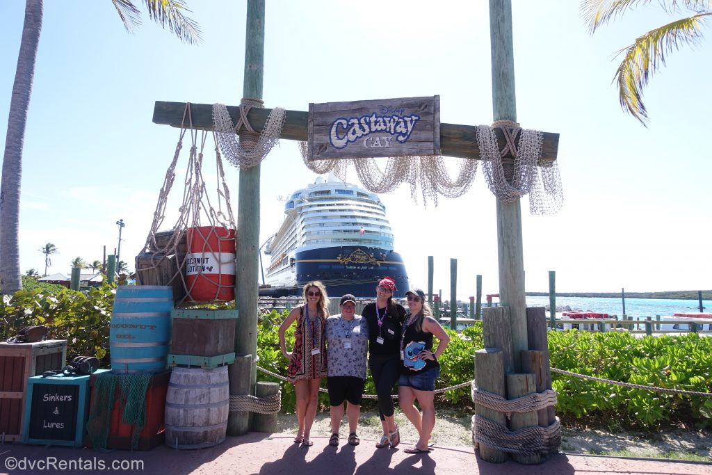 Team Members Lindsay, Carly, Cassie and Stephanie S at Castaway Cay