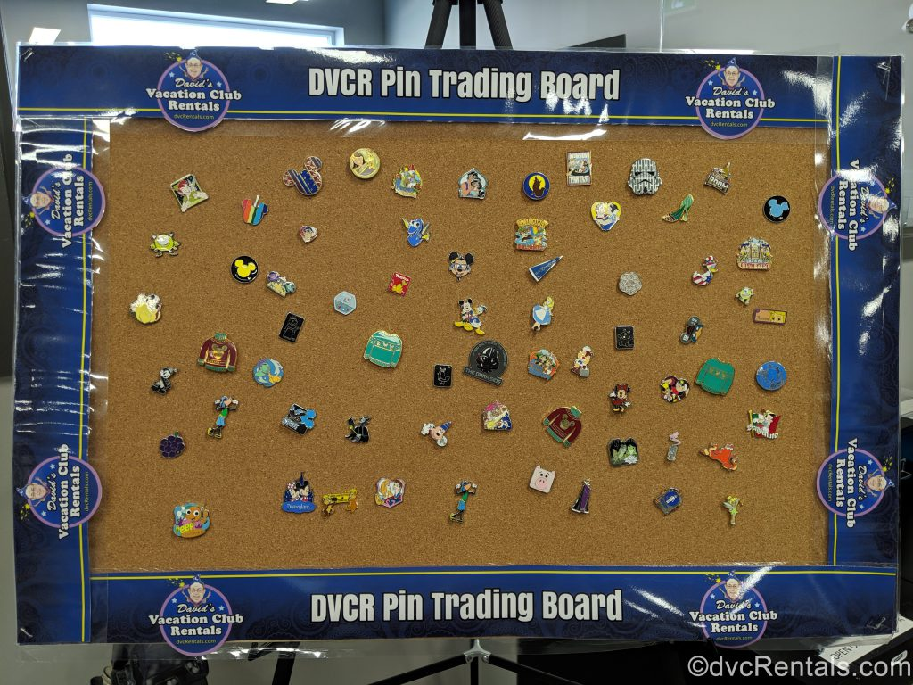 David's Vacation Club Rentals pin trading board
