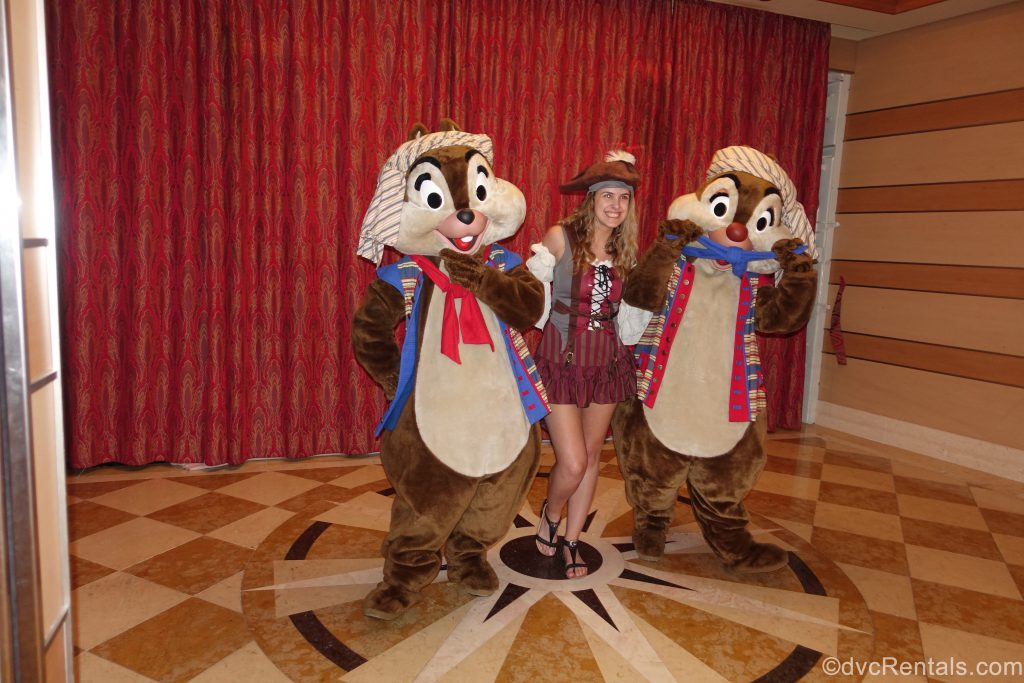 Team Member Stephanie S with Chip and Dale
