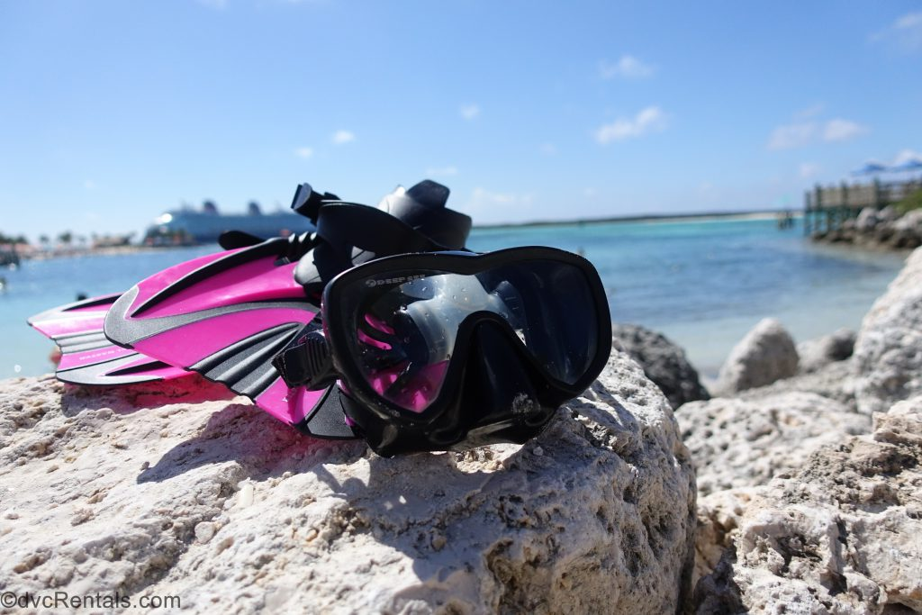 snorkel gear at Castaway Cay