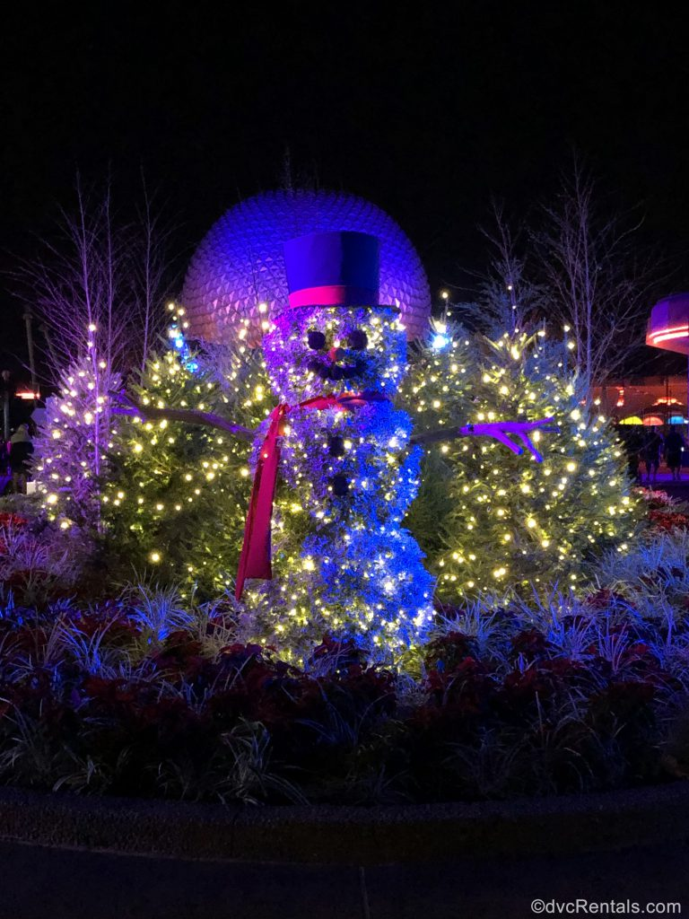 Christmas Decorations at Epcot