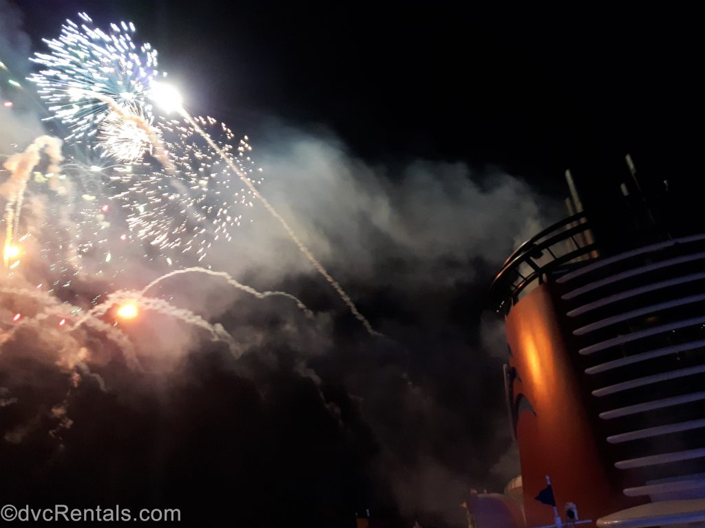 Fireworks from the Disney Dream