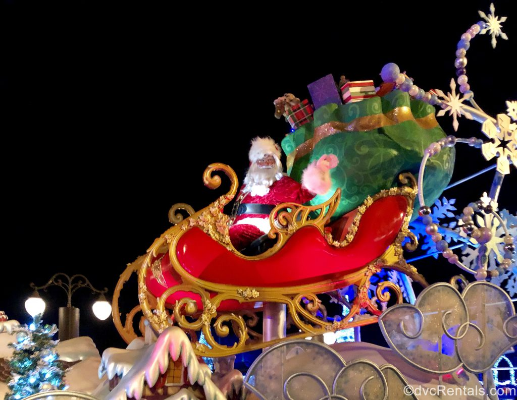 Santa at the Once Upon a Christmastime parade