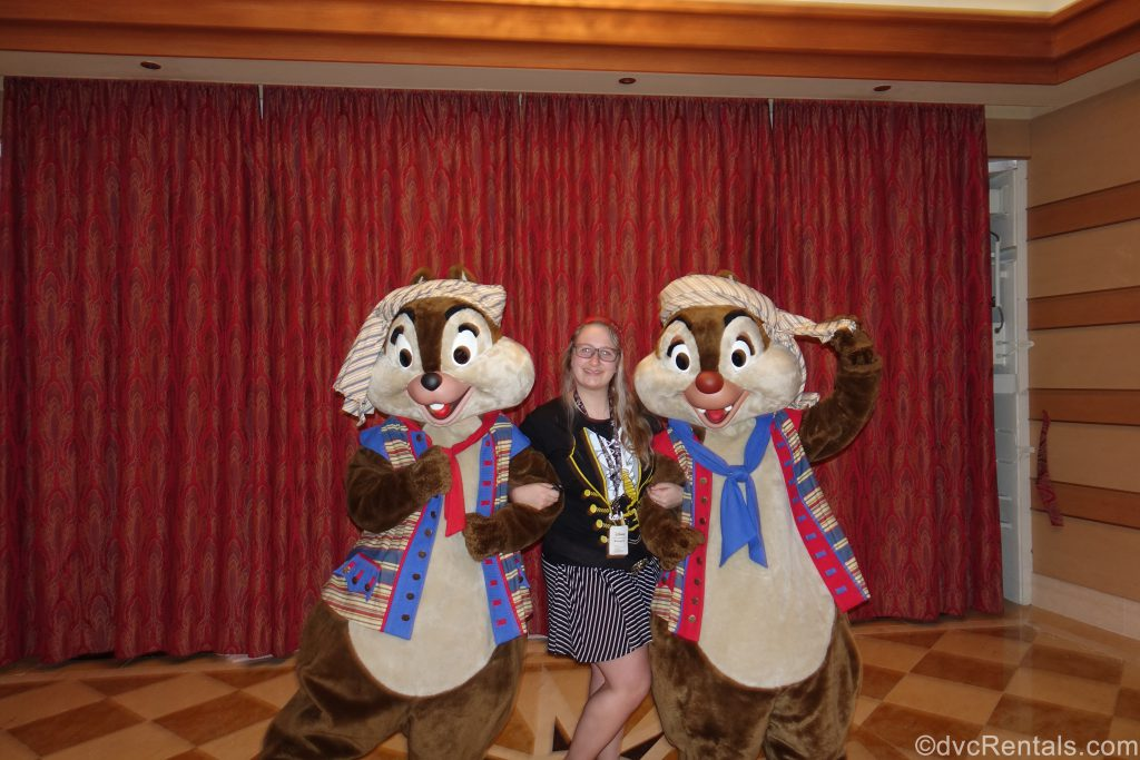 Team Member Cassie with Chip and Dale