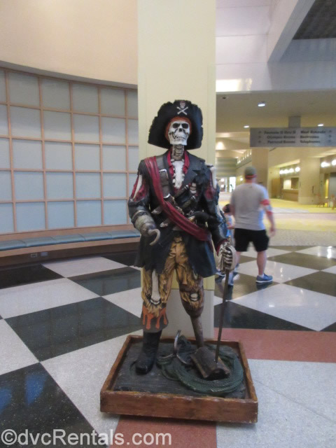 Pirate Display in the hall near the Dessert Portion