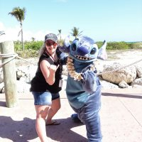 Stith and Team Member Cassie at Castaway Cay