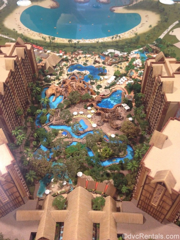 miniature model of Aulani a DVC Resort in Hawaii