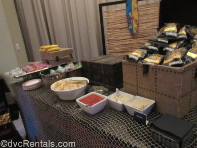 food and snacks available at the Pirate and Pals Fireworks Dessert Voyage