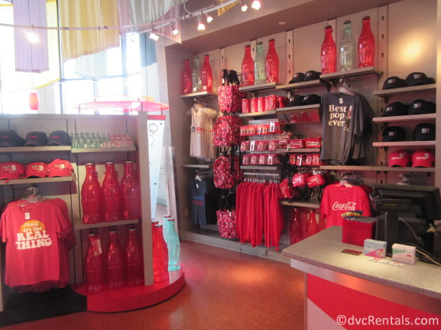 Merchandise from Club Cool at Epcot
