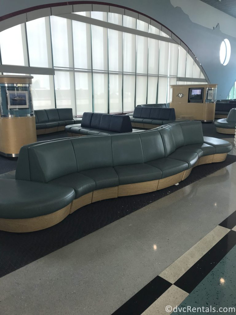 seating area inside the Port Canaveral Terminal