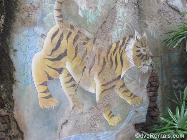 painting of a tiger from Disney's Animal Kingdom