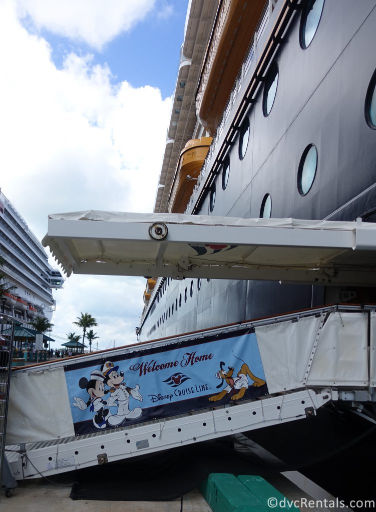 ramp to lead guests on to the Disney Dream