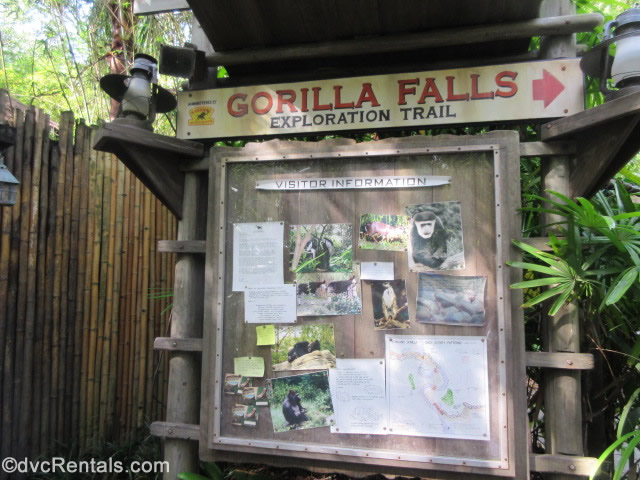 sign for the Gorilla Fall Expedition