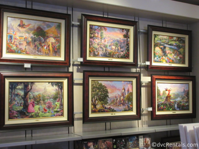 artwork from the Art of Disney at Epcot