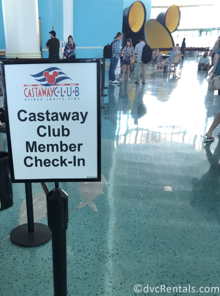 Castaway Club Line at the Port Canaveral Terminal