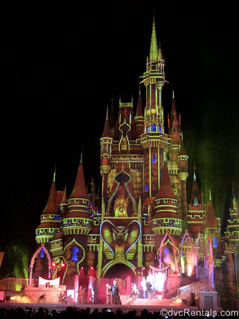 Cinderella Castle with Villains