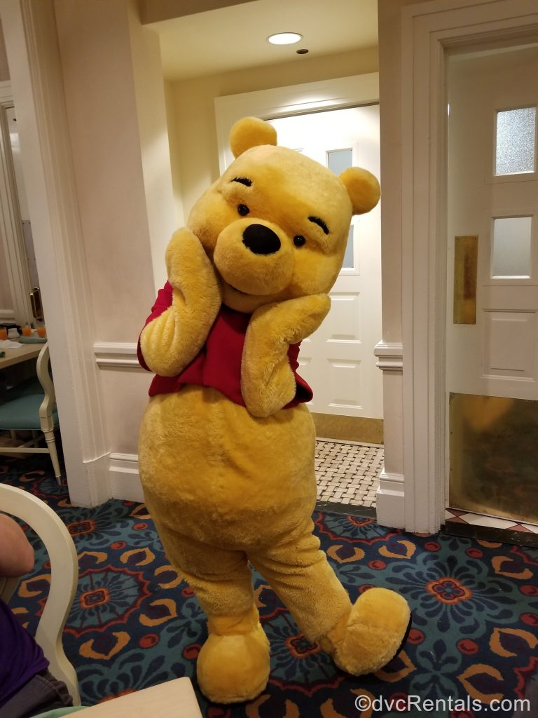 Winnie the Pooh from the character breakfast at 1900 Park Fare