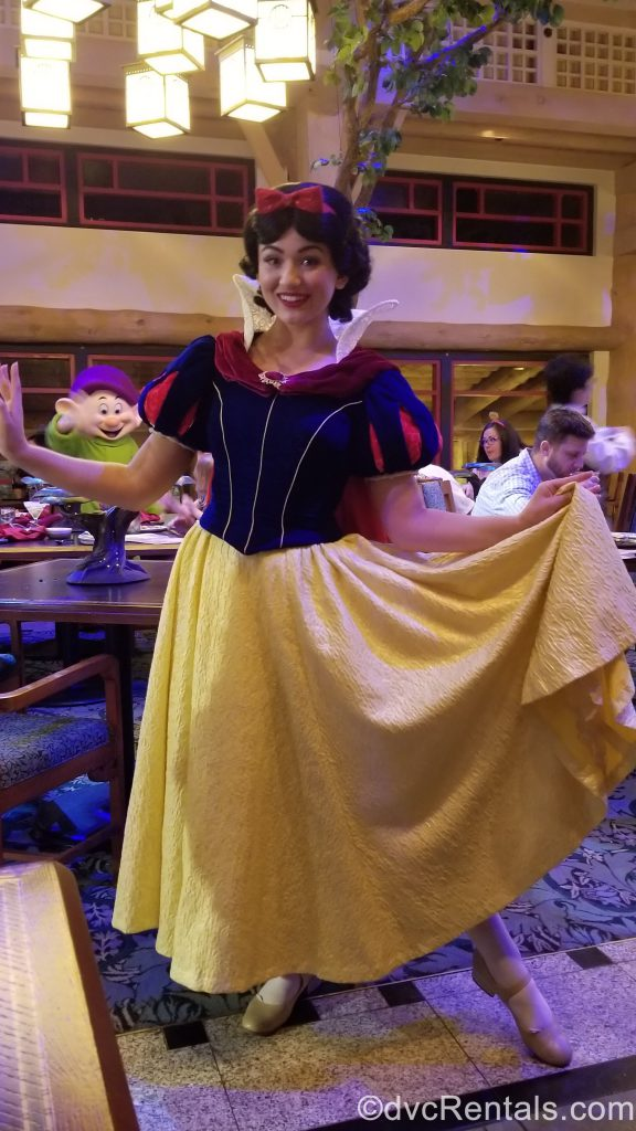 Snow White at Artist Point Restaurant