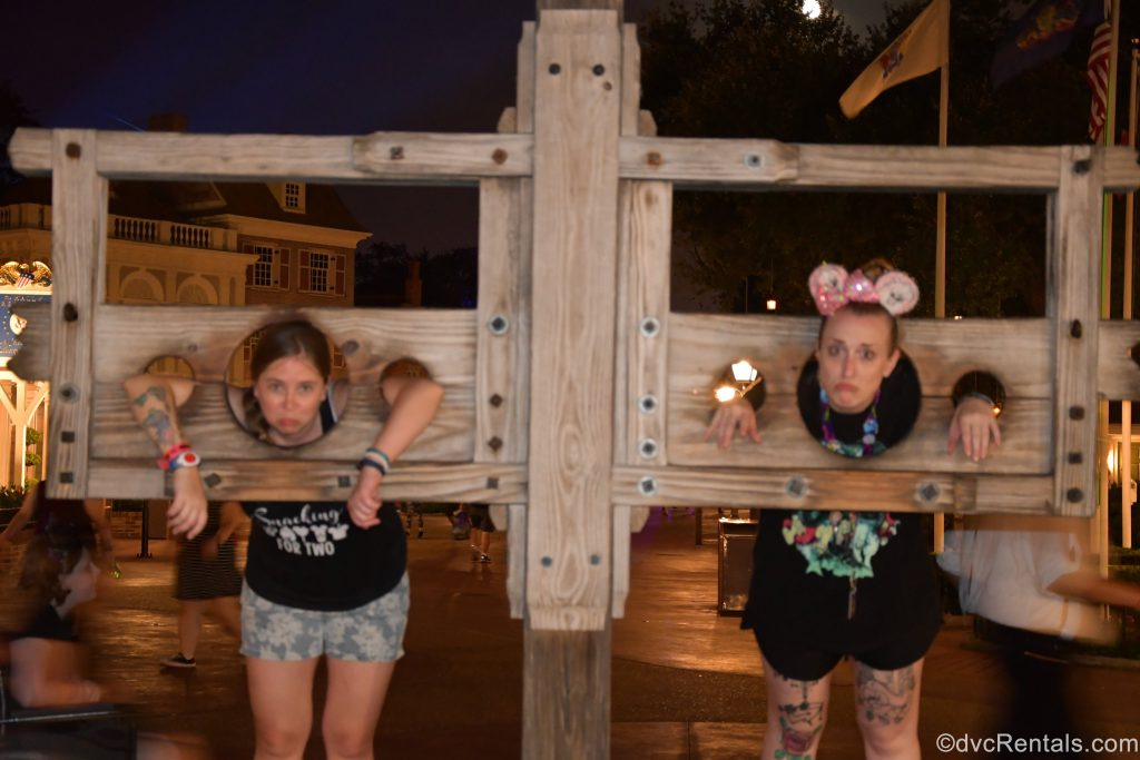 Team Members Chelsey and Ashley J. in Frontierland