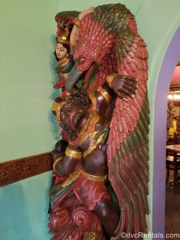Statue from inside the Yak & Yeti restaurant