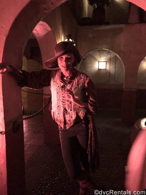 Female Pirate at the Pirates of the Caribbean