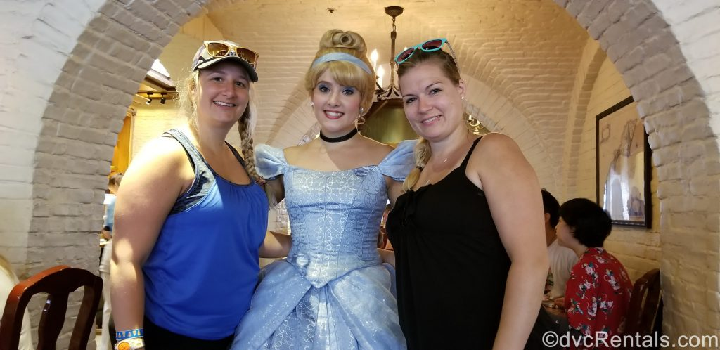 Team Members Cassie and Stephanie H. at Akershus Restaurant in Epcot