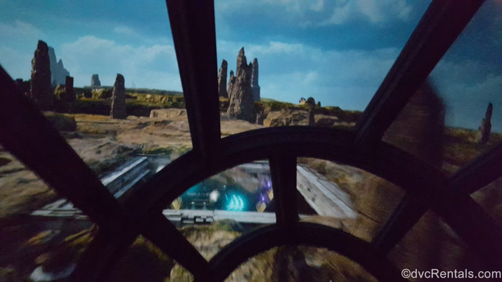 Millennium Falcon: Smugglers Run, view from the cockpit