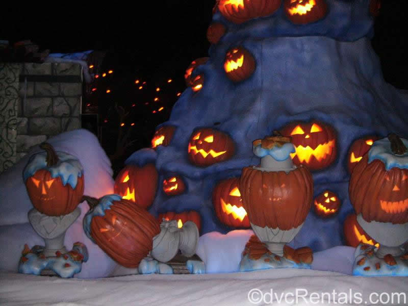 Halloween Decorations at the Haunted Mansion in Disneyland