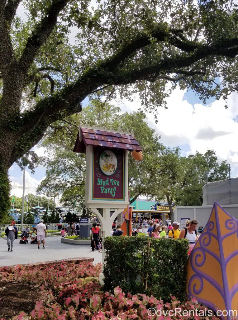 Mad Tea Party sign at the Magic Kingdom