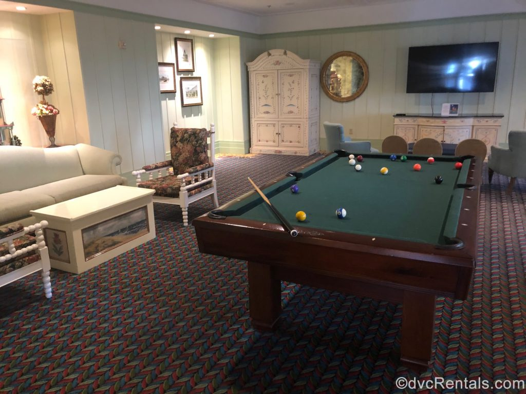 pool table in the Drawing Room
