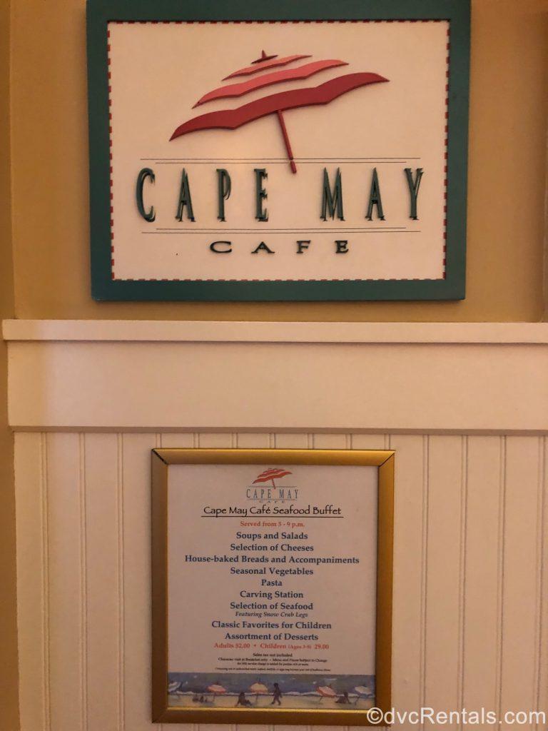 Cape May Café sign