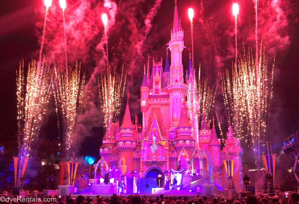 Cinderella Castle During the Villain After Hours Event
