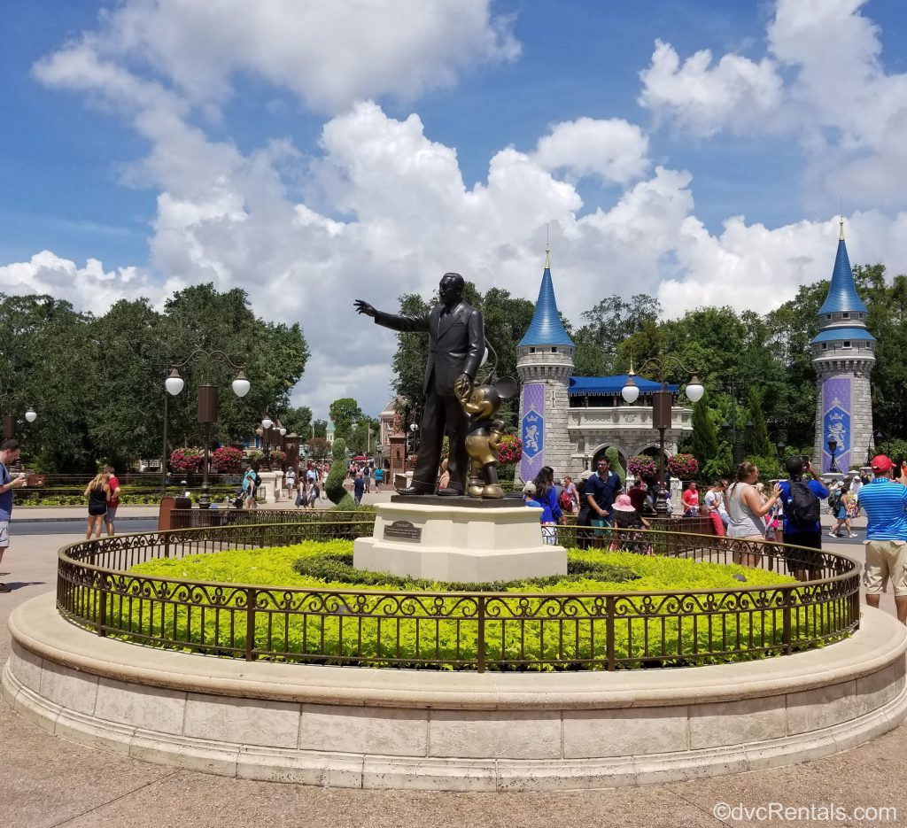 Walt Disney and Mickey Mouse Partners Statue at the Magic Kingdom