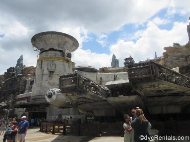 Exterior shot of Star Wars: Galaxy's Edge